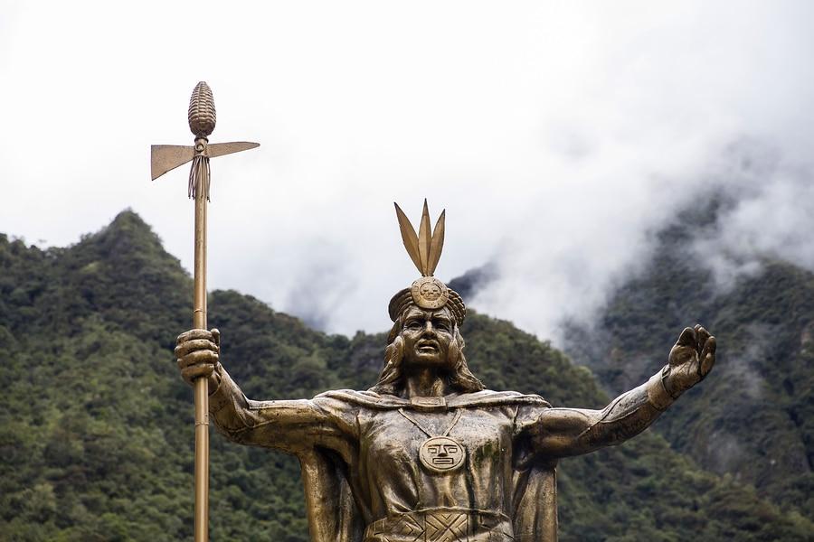 Statue of Pachacuti, Aguas Calientes, Peru