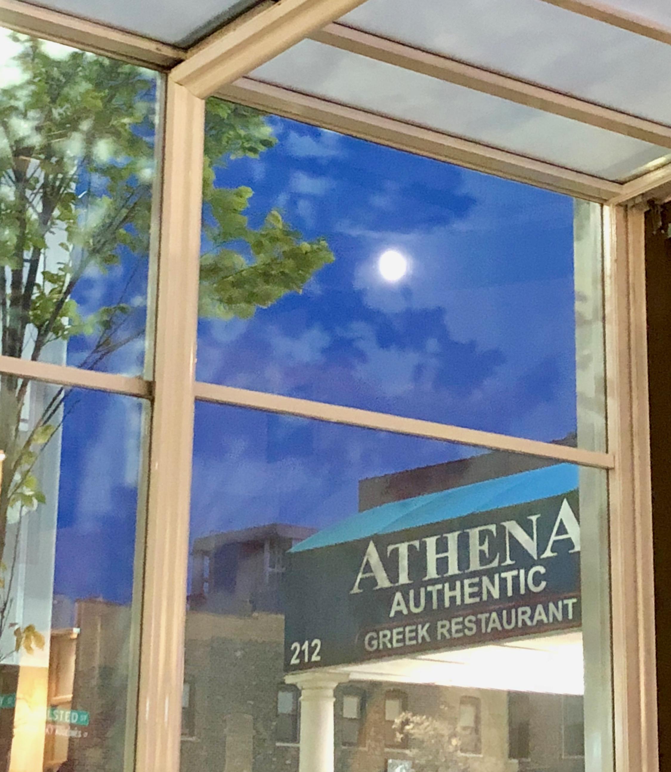 Entrance, Athena Restaurant, Greektown, Chicago, Illinois