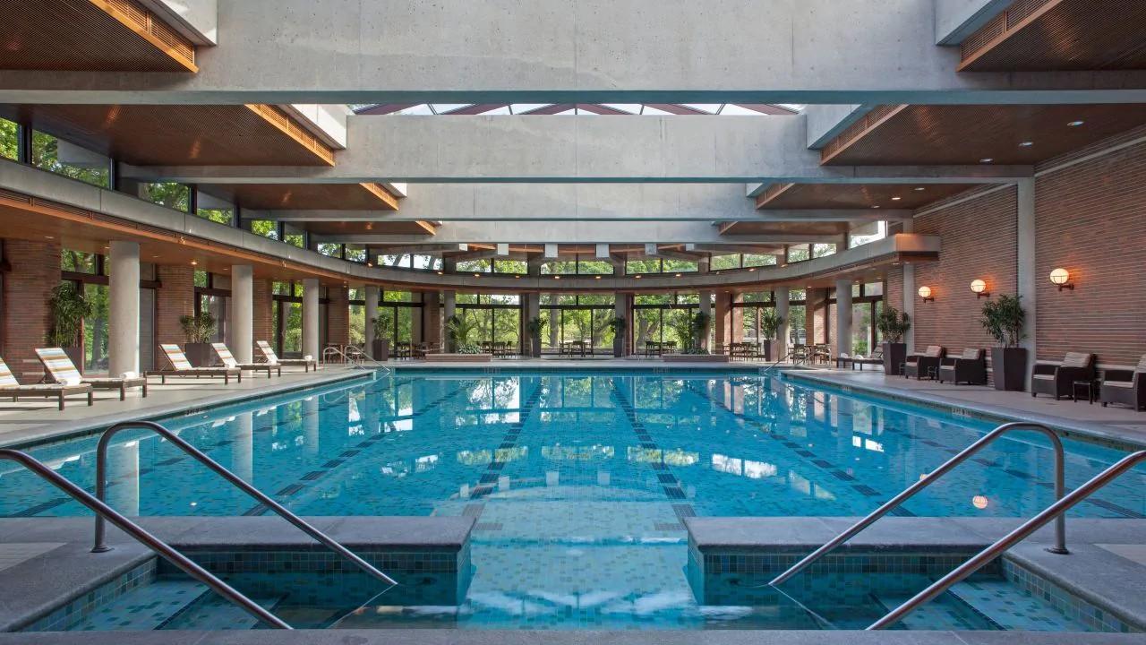 Pool at the Hyatt Lodge at McDonald's Campus, Oak Brook, Illinois