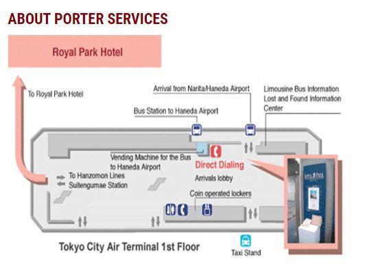 TCAT Map, Royal Park Hotel Tokyo, Japan