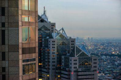 Shinjuku skyline with Park Hyatt Tokyo, Japan